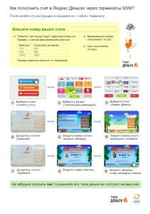 Инструкция пополнение счета в Яндекс.Деньгах через Терминалы QIWI